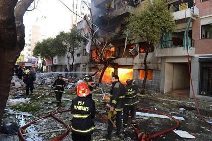 Explosión deja 5 muertos y 51 heridos en Argentina
