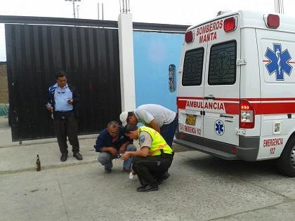 Hombre es herido por motociclistas en Manta