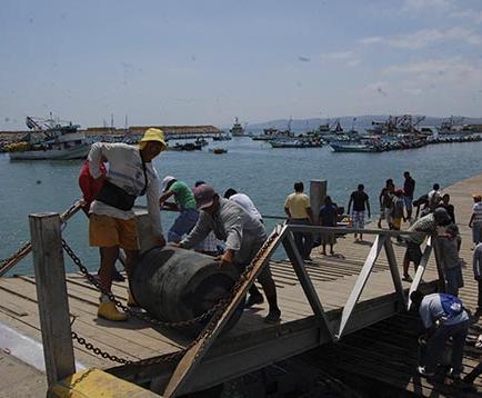 Pescadores ya pagan por el uso del muelle pesquero