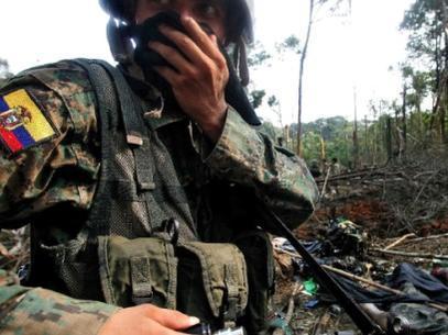 Militar ecuatoriano y cinco personas más mueren en enfrentamiento en la frontera con Colombia