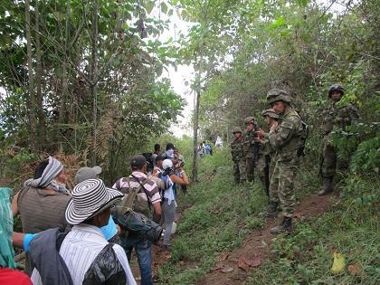 59 familias desplazadas por la violencia en Colombia regresarán a sus tierras