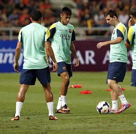 Messi: ' Tengo buena  relación con Neymar'