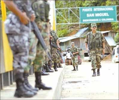 Ecuador tendrá apoyo de Fuerzas Armadas colombianas en la frontera común