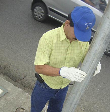 Con el apoyo del Club Rotario son instalados semáforos en la 5 de  Junio