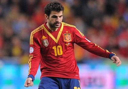 Cesc Fábregas no jugaría contra Ecuador a causa de una lesión