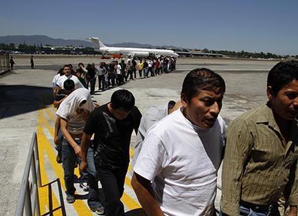 Los migrantes esperan con fe