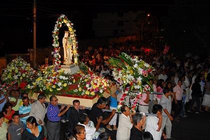 Alistan homenaje a la Virgen de la Merced en Manta