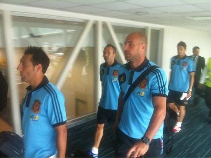 La Selección de España llegó a Guayaquil sin saludar a la prensa