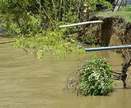 Ultimátum a la EPMAPAP para tapar descargas al río