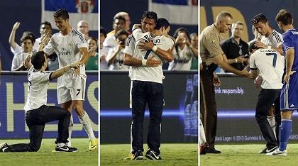 Joven pasó dos días en la cárcel por abrazar a Cristiano Ronaldo