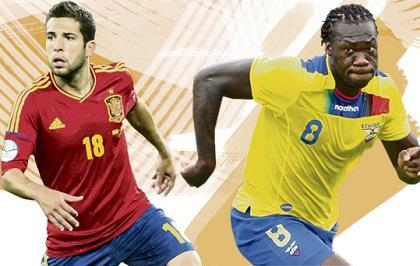 Ecuador y España se enfrentan en un partido amistoso