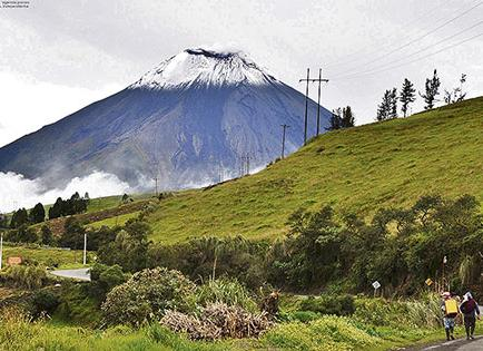 El Tungurahua mantiene un nivel moderado alto