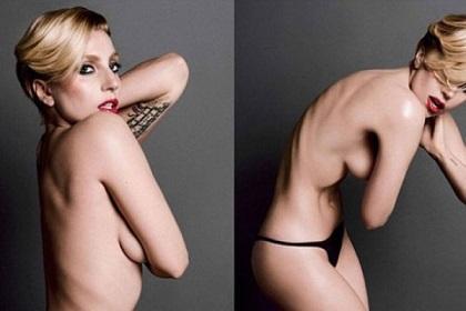 Lady Gaga vuelve a desnudarse previo al lanzamiento de su nuevo disco