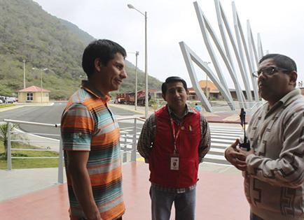 Jefferson Pérez visita el centro Ciudad Alfaro