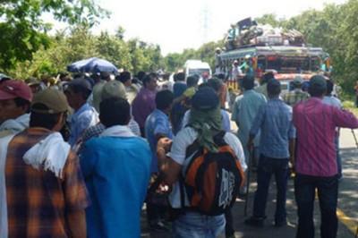 Detienen a 22 personas por desórdenes en inicio de huelga agraria