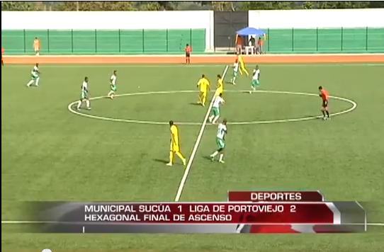 Liga de Portoviejo vence 2-1 a Municipal Sucúa