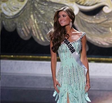 Constanza Báez Jalil, segunda finalista del Miss Universo 2013