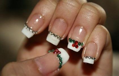 Las uñas también se visten de navidad