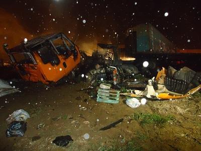Chofer de tráiler que murió calcinado en Santo Domingo transportaba ropa a Quito