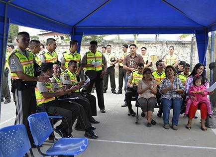 Policía realiza las novenas