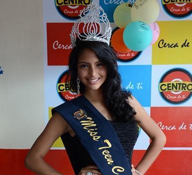 La santodomingueña Alison Flores ganó el 'Miss Teen Costa Ecuador'