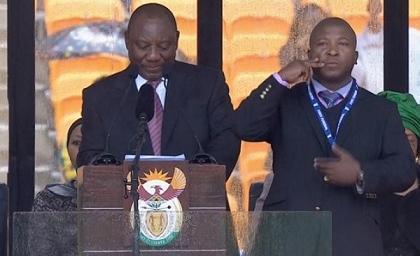 El intérprete del funeral de Mandela fue internado en un hospital psiquiátrico