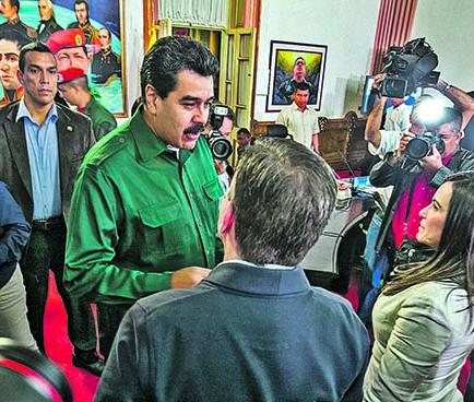 Maduro se reúne con la oposición