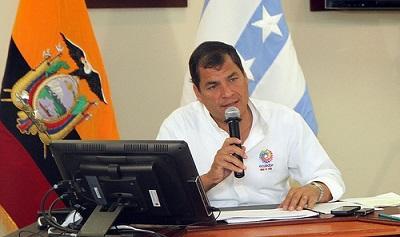 Correa niega 'chantaje' a Panamá en caso del barco 'Doria'