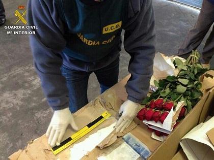 Descubren 15 kilos de cocaína en cargamento de rosas ecuatorianas