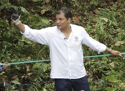 Correa culpa al presidente de la petrolera Chevron