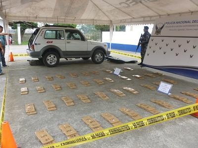 Policía incauta 73 kilos de cocaína