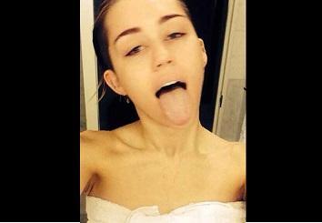 Miley Cyrus publica una foto al salir de la ducha