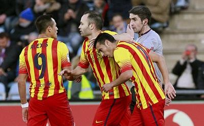 Sin Messi ni Neymar, Barcelona dio vuelta el marcador y es líder