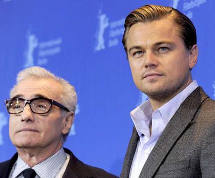 DiCaprio y Martin muestran a 'el   lobo de Wall Street'