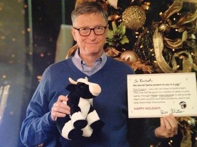 Bill Gates le regaló un peluche a su amiga secreta