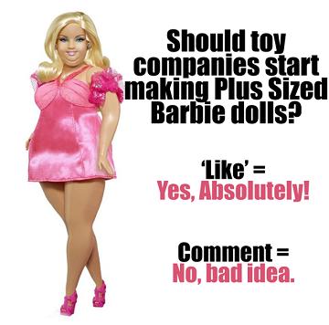 Sitio web pide la creación de una Barbie de 'talla grande'