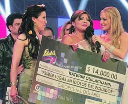"Katerine Quilachamín ganó el reality ""Ídolos"""