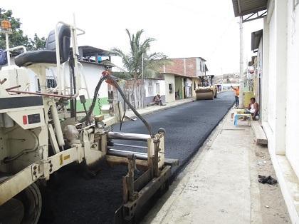 Culmina obra de pavimentación en el barrio San Pablo de Jaramijó