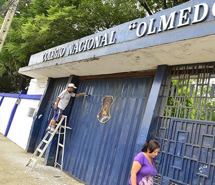 Reconstruirán al Colegio Nacional Olmedo