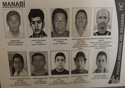 """Actualizan lista de """"los más buscados"""" de Manabí"""