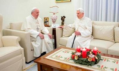 Benedicto XVI devuelve la visita a Francisco y almuerzan juntos