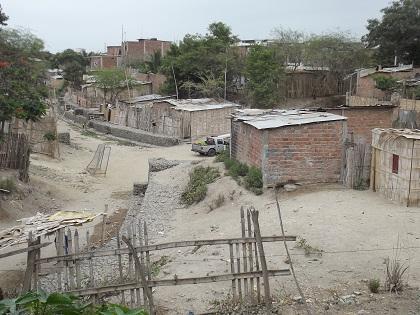 Casas en riesgo en el barrio 15 de Abril