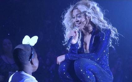 Beyoncé cumple sueño a niña con enfermedad terminal (VIDEO)