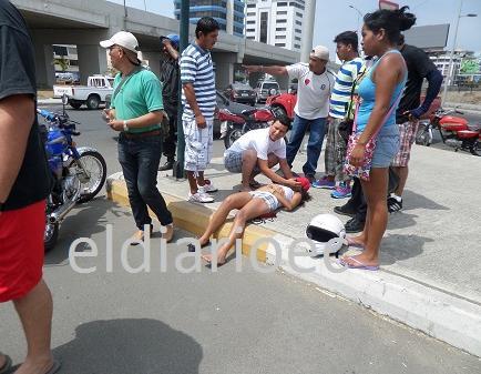 Tres personas resultaron heridas en un accidente de tránsito en Manta