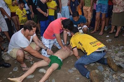 Cuerpo de menor ahogado en un río de Santo Domingo fue trasladado a Ambato