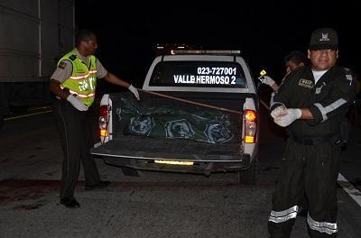 Cuerpo de manabita atropellado en Santo Domingo de los Tsáchilas fue trasladado a Pedernales