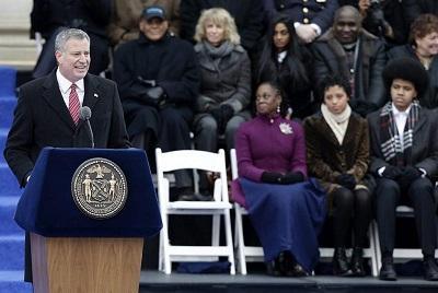 El demócrata Bill de Blasio es el nuevo alcalde de Nueva York