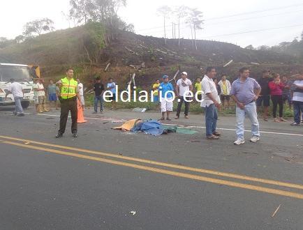 Un hombre muere en choque en la vía Jipijapa - Guayaquil