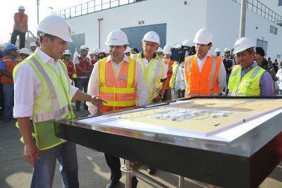 Humala inaugura planta que tratará el 75 % de las aguas residuales de Lima