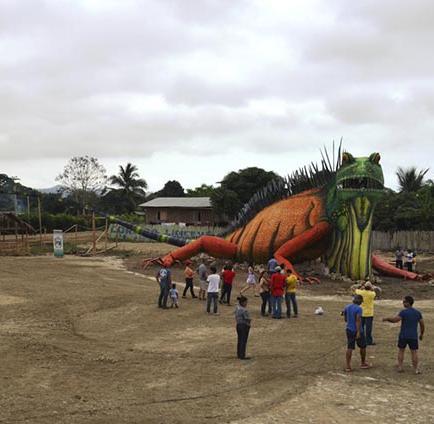 Más de 3.000 visitantes conocieron la iguana gigante de Jama